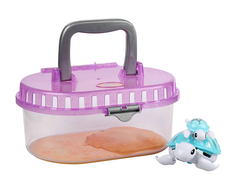 Little Live Pets Интерактивная игрушка Черепашка с малышом в аквариуме S2