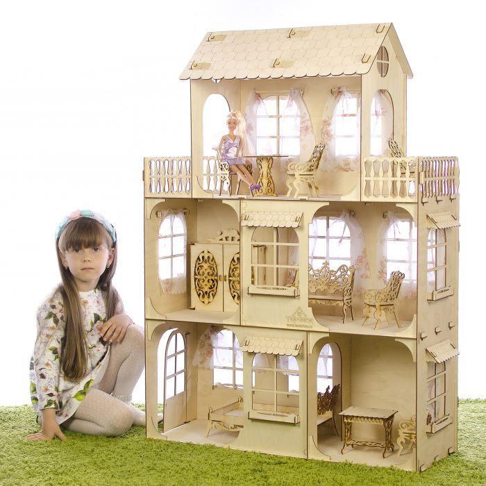 Большой кукольный дом Теремок без мебели, фанера 3 мм КД-2 купить по цене 2 616 руб. в Москве — Юмитой