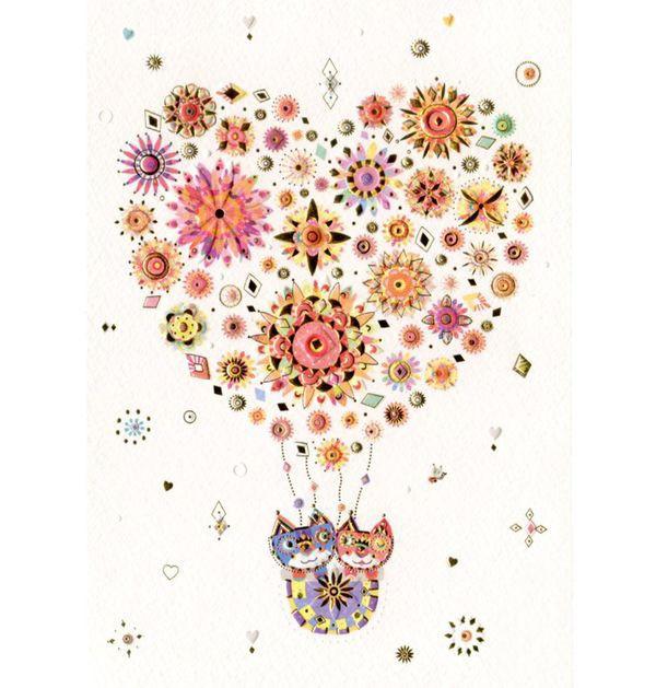 Открытки воздушный шар с цветами