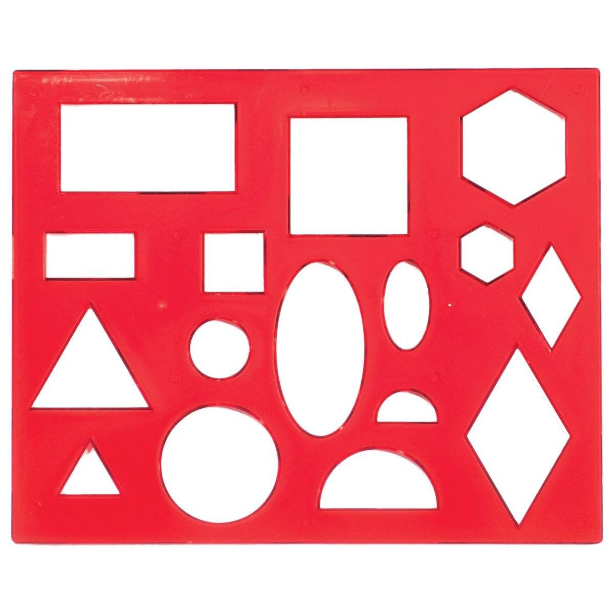 Линейка с геометрическими фигурами
