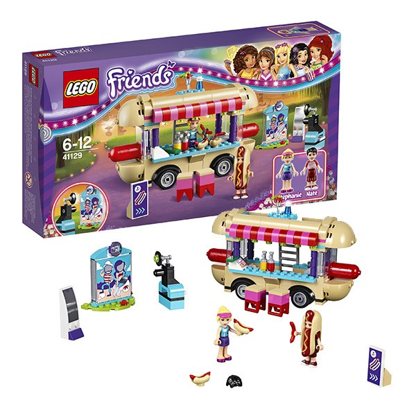 Конструктор Lego серия Lego Friends Парк развлечений: фургон с хот-догами (41129), фото
