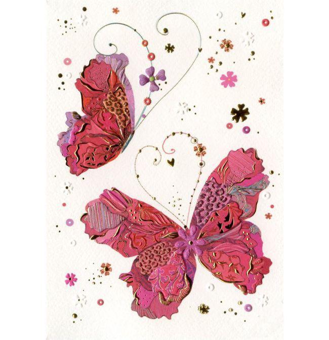 Марта детскими, поздравительная открытка бабочка