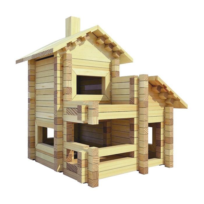 Игрушка деревянный конструктор домик