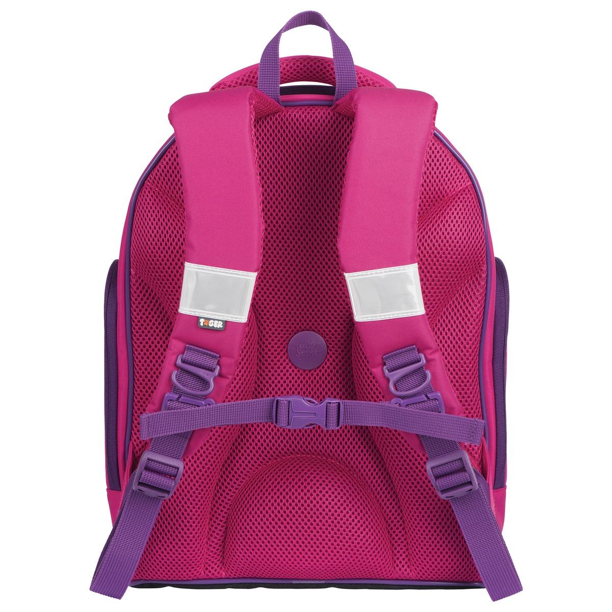 82fda74807f0 ... Рюкзак Tiger Family с ортопедической спинкой для средней школы,  университета, розово-фиолетовый,