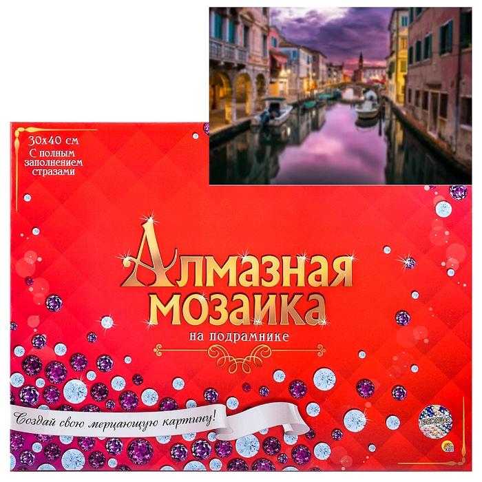 """Алмазная мозаика Рыжий кот 30*40 см, """"Вечерняя Венеция"""", с подрамником ST960 купить по цене 913 руб. в Москве — Юмитой"""