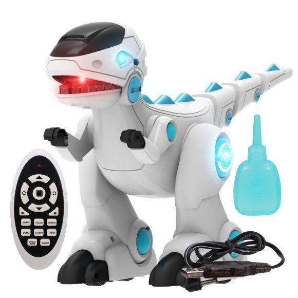 Интерактивный динозавр Наша Игрушка р/у, свет, звук, емкость для воды, аккумулятор, USB з/у 28309 купить по цене 2 702 руб. в Москве — Юмитой