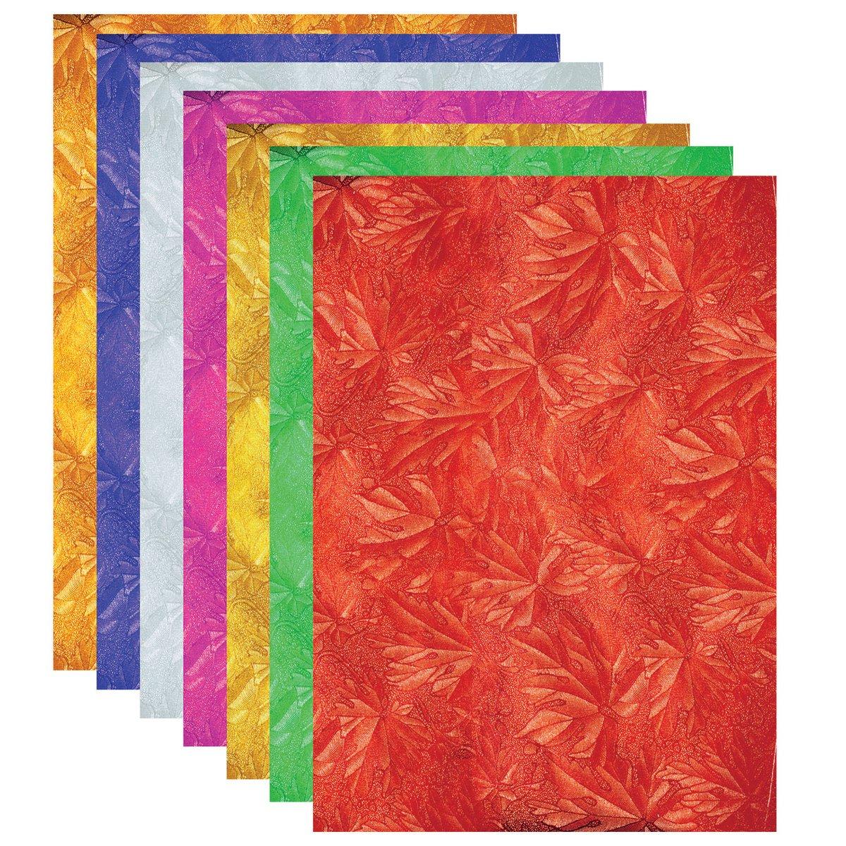 Набор цветной фольги фактурная А4