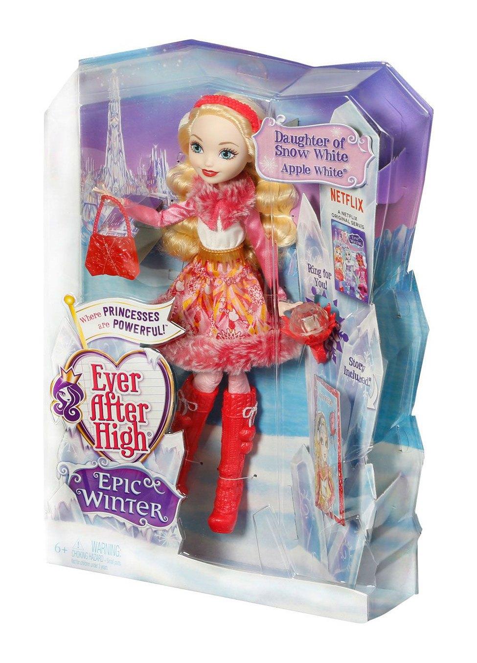 Mattel Кукла Эппл Уайт из коллекции Заколдованная зима, Ever After High