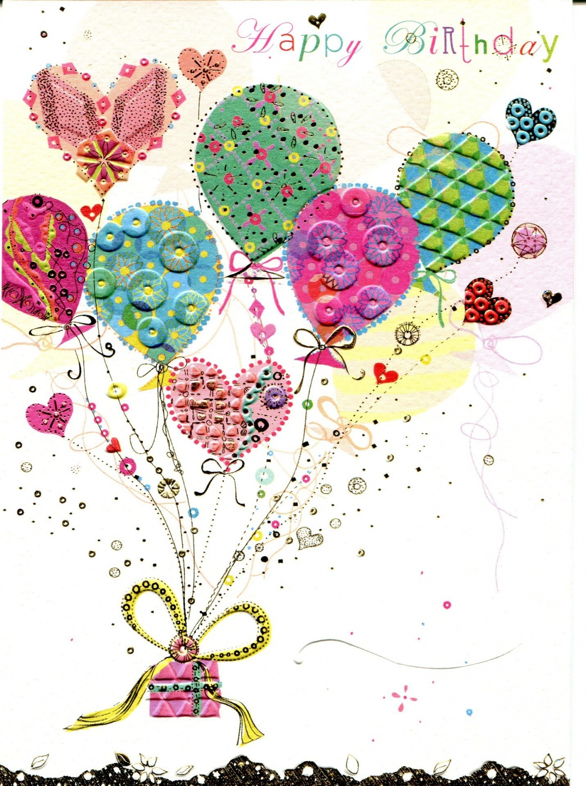 Ручной, дизайнерская открытка для девочки