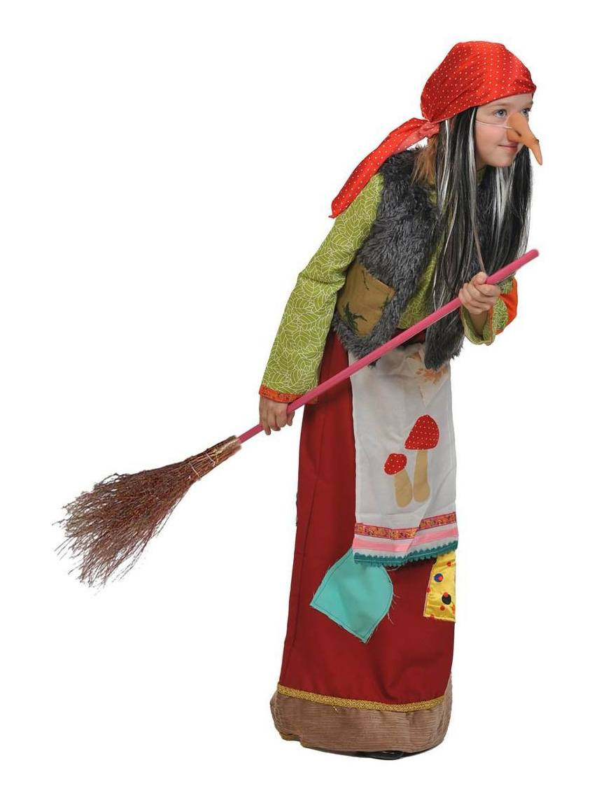 Как сделать костюм баб яги для девочки своими руками